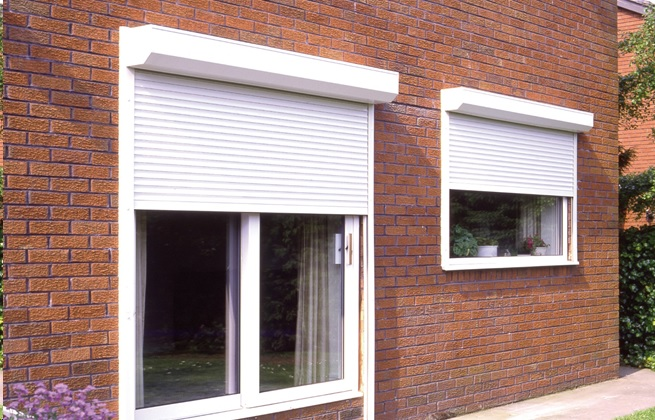 White Domestic Roller Shutters - Arrow Security Shutters Limited
