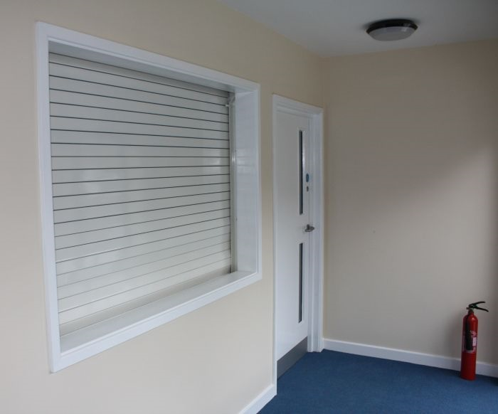 Green Fire Rated Roller Shutter - Arrow Security Shutters Limited