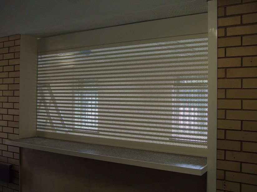 Cream RAL1015 Perforated Slats