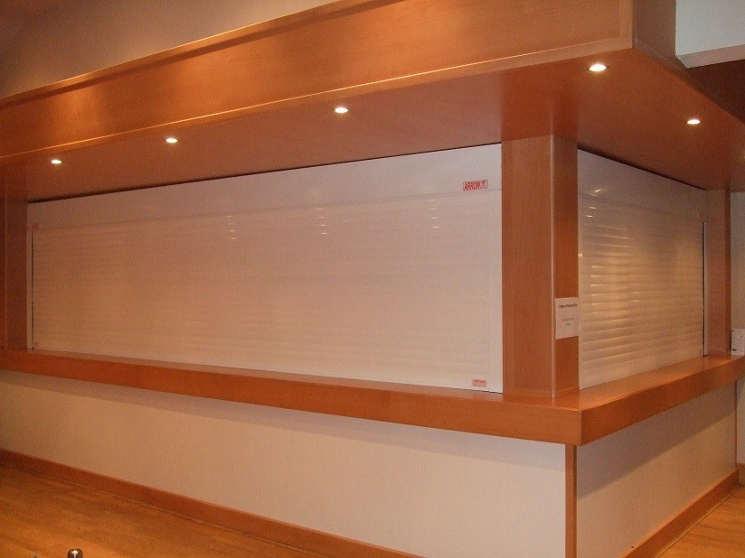 White RAL 9010 Solid Slats