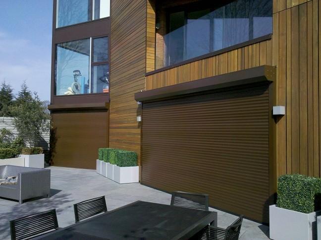 Brown RAL 8014 Aluminium Slats