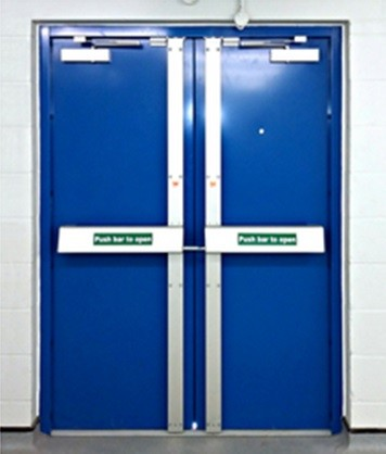 Double Leaf Fire Exit Door - 5 Point Locking